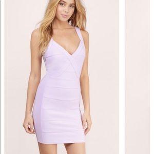 Small Tobi lavender body con dress